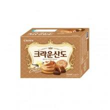 크라운]산도쵸코161g(2200) [과자] [크라운산도] [초코맛]