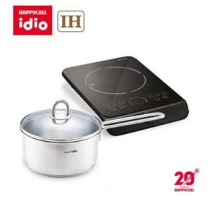 해피콜 아이디오 1구 IH 전기레인지 + 아이디오 라이트 IH 스텐냄비 편수18cm BH-0005 / 단독상품