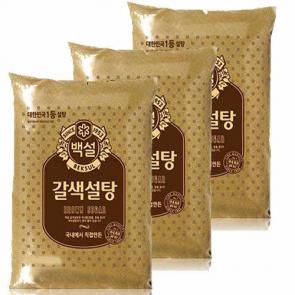 CJ) 갈색설탕3kg [설탕] [가공식품] [조미료]